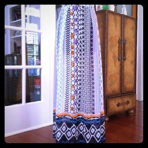 High waisted, fun, full length skirt